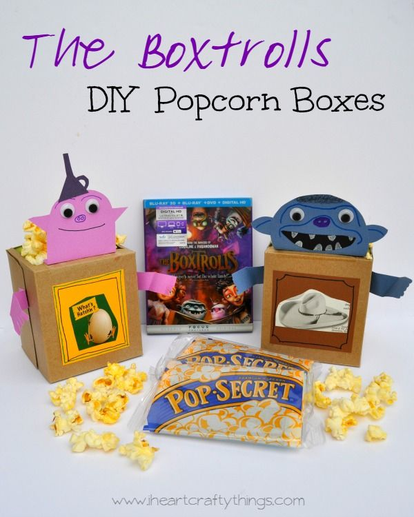 Make Boxtroll Popcorn Boxes and have an awesome family night watching The Boxtrolls. Great way to extend family time and let kids be creative. #Boxtrolls FamilyNite #PMedia #ad @theboxtrolls @Walmart