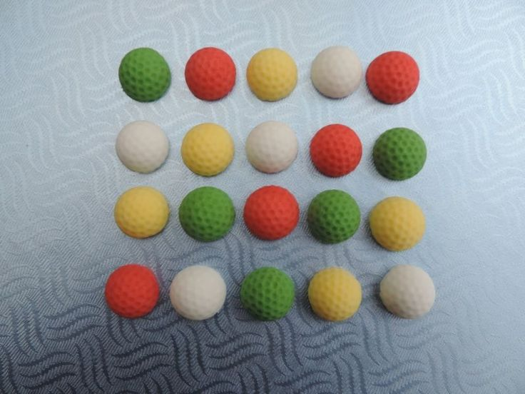 20 mini golf balls fondant cupcake toppers,birthday,cake decoration.