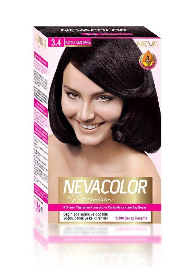 Nevacolor Premium Sac Boyasi 3 4 Koyu Kestane Goruntuler Ile