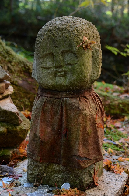 Jizo statue at Ohara Sanzen-in, Kyoto, Japan