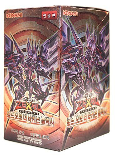 Yu-Gi-Oh! Konami Yugioh Card ZEXAL Booster Pack Box OCG 200 Cards Lord of the Tachyon Galaxy Korea Version