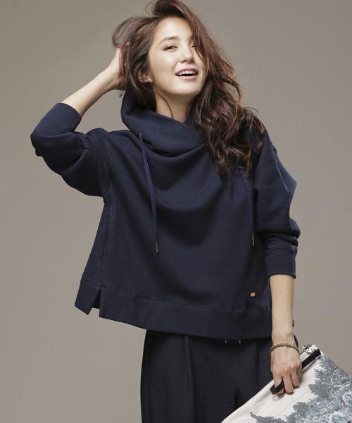 裏毛ワイドパーカープルオーバー | couture-line | 9999165113515 | ナノ・ユニバース直営通販サイト