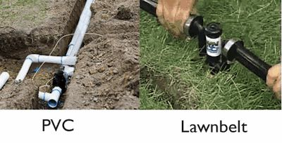 Discuss sprinkler system costs and whats involved to install an inground sprinkler using PCV and a DIY system like Lawn Belt.