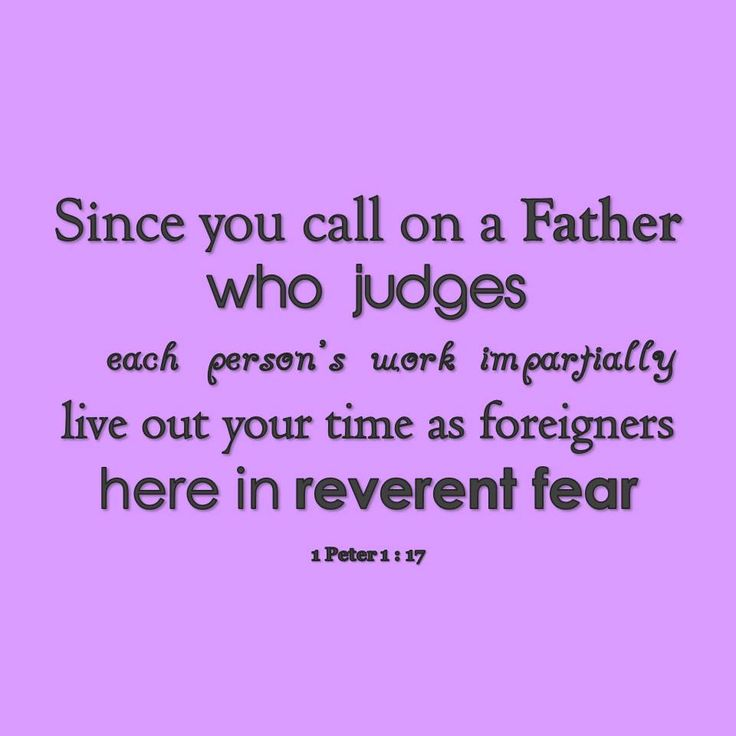 1 Peter 1 : 17