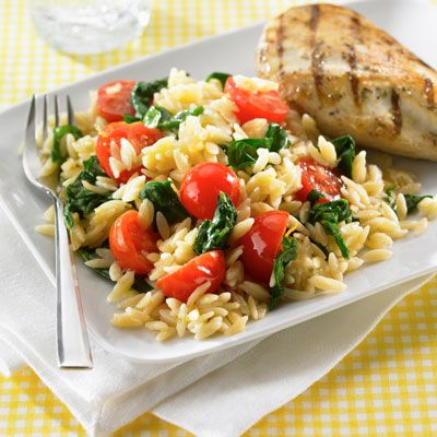 Creamy Orzo With Spinach Recipe from Land O'Lakes