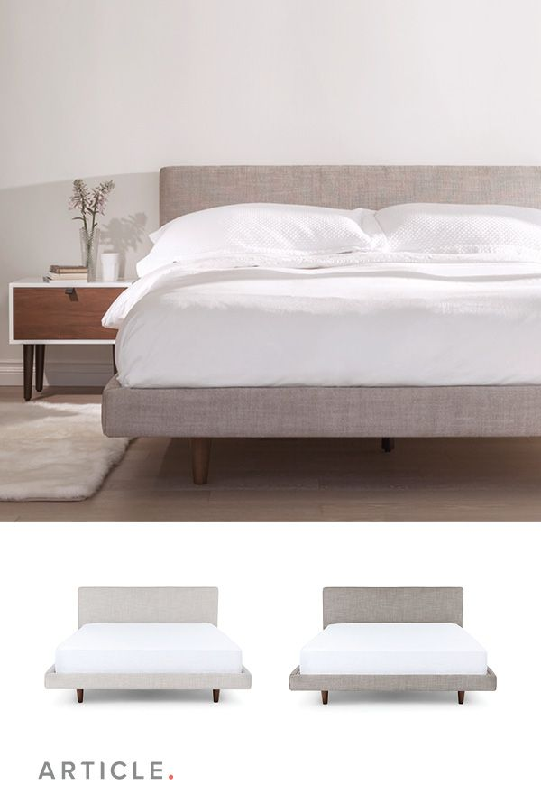 Tessu Clay Taupe King Bed King Upholstered Bed Luxury King Bed