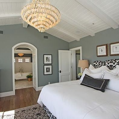 Sherwin Williams Comfort Gray love this wall color. Will look beautiful with KT's headboard. Perfect!