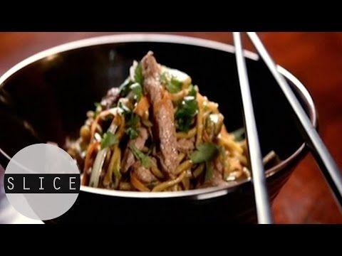 Gok Wan's Speedy Noodles with Pork & Ginger   SLICE - YouTube