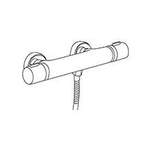 Fourniture et pose d'un robinet mitigeur thermostatique (douche)