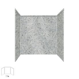 Transolid Decor Matrix Dusk/Stone Fiberglass/Plastic Composite Shower Wall Surround Side and Back Panels (Common: 32-in x 60-in; Actual: 60-in x 32-in x 60-in)