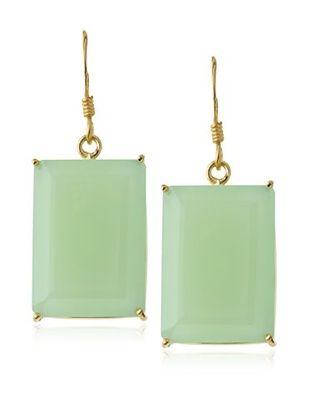 64% OFF Kanupriya Green Chalcedony Cocktail Party Earrings