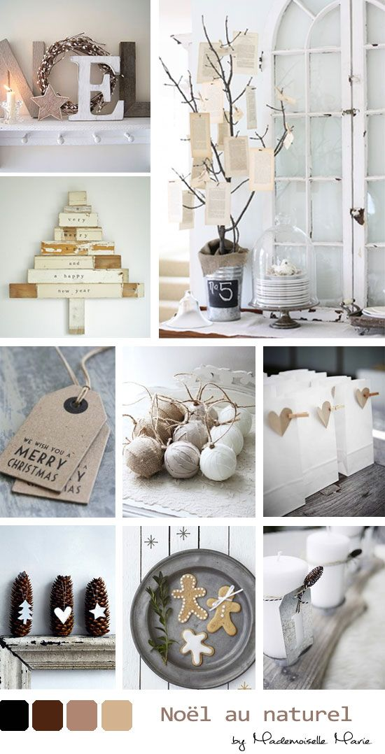 Wonderwall: Pretty natural Christmas palette. {via mariewonderwall.blogspot.fr}