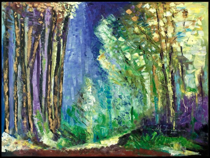 Buy Blue Forest, Oil painting by Mihaela Ionescu on Artfinder. Discover thousands of other original paintings, prints, sculptures and photography from independent artists.