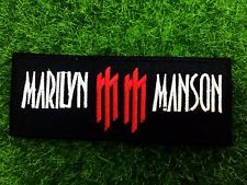 Marilyn Manson Sew Iron On Patch Heavy Metal Rock Band Embroidered Logo Music