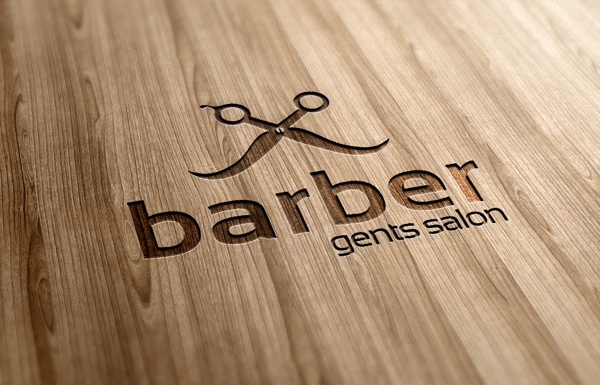 Barber Gents Salon Logo Template by Ramzi Hachicho, via Behance