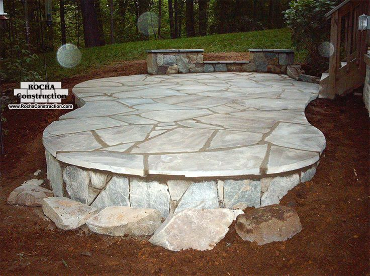 25 great stone patio ideas for your home | stone patios, flagstone