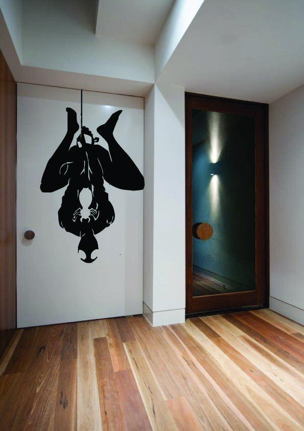 Spiderman Hanging Wall Art Sticker