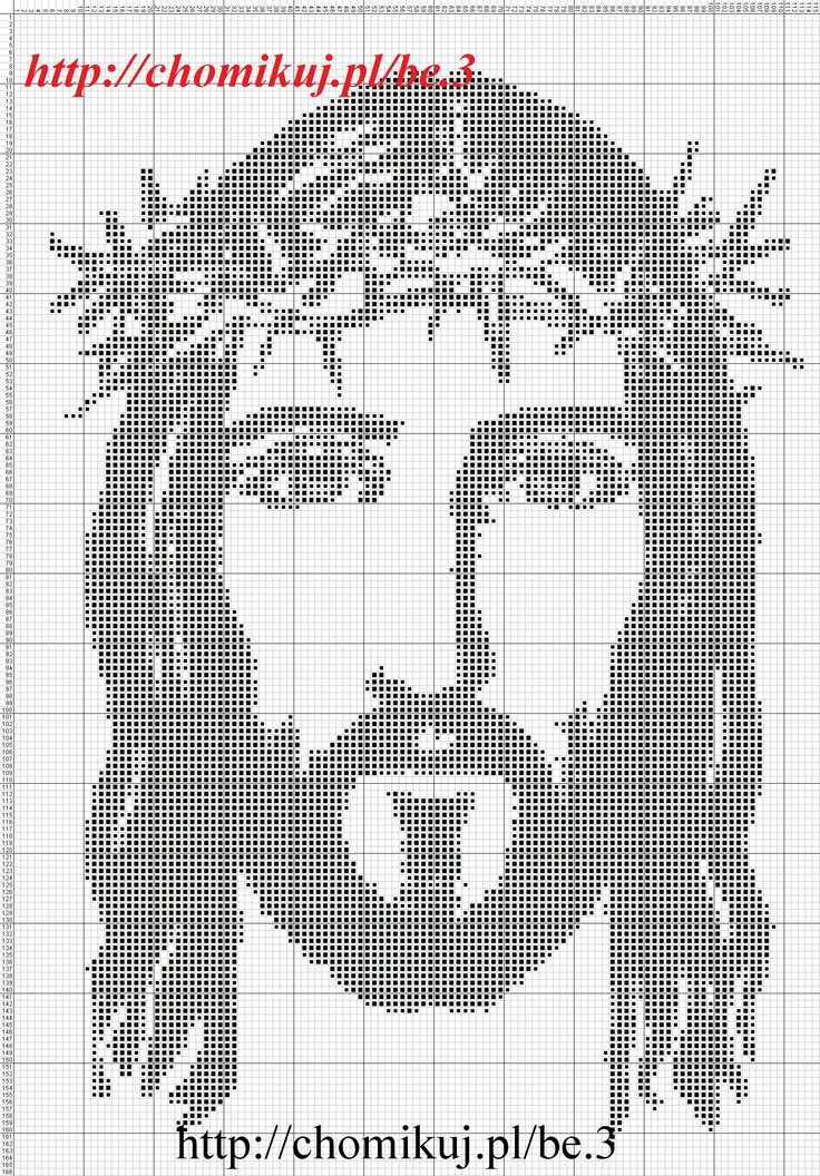 Image result for free jesus cross stitch patterns