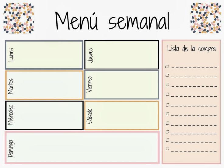 Las 25 mejores ideas sobre men semanal de comidas en for Menu para comida familiar