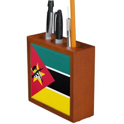 #Mozambique flag pencil holder - #office #gifts #giftideas #business