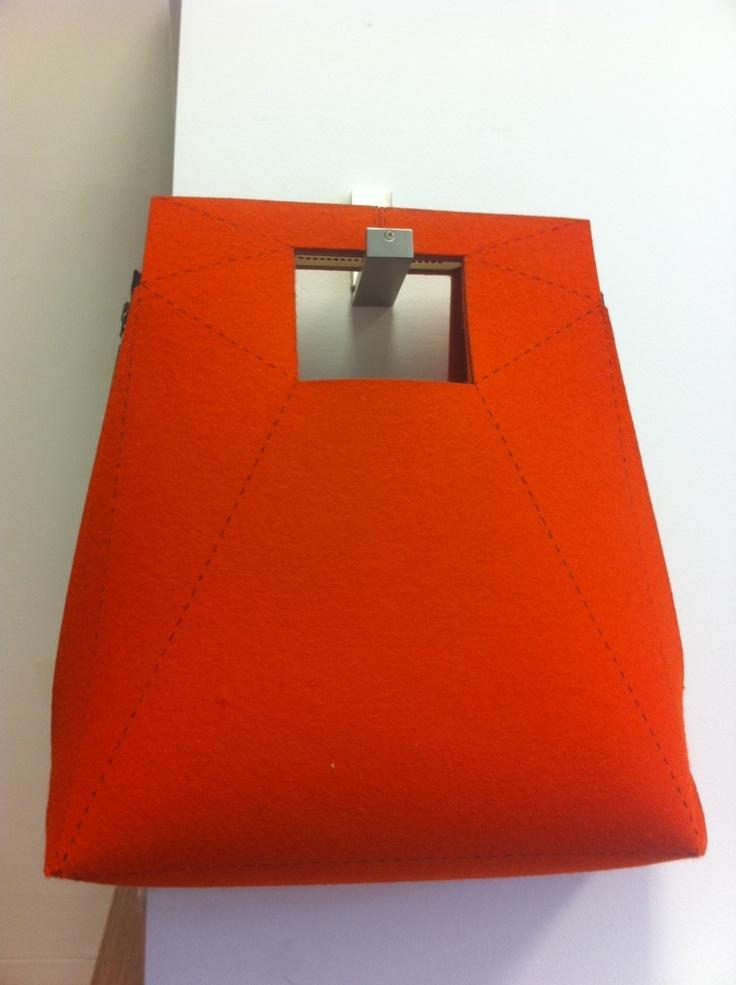 geometric felt bag