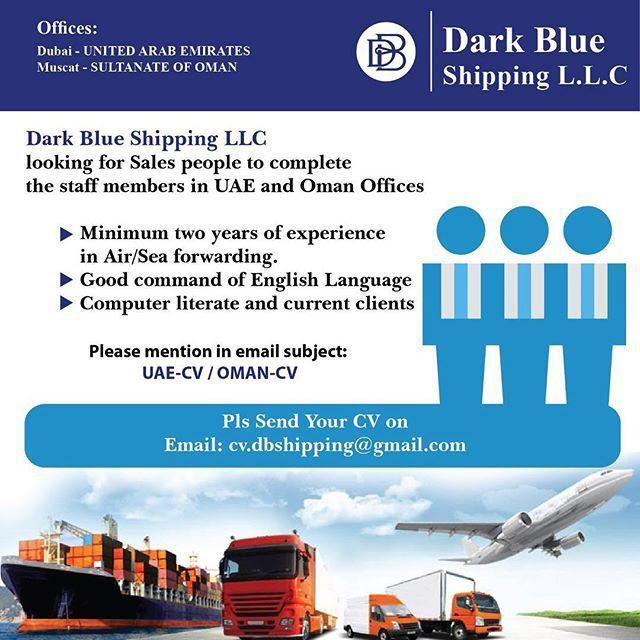 DARK BLUE SHIPPING LLC Staff Member for Oman & UAE Office