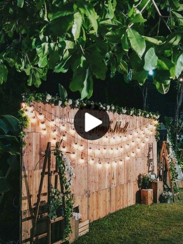2020年30予算に優しい裏庭の結婚式のアイデア ああ 結婚式の日が来ています In 2020 Outdoor Wedding Decorations Wedding Backdrop Backyard Wedding