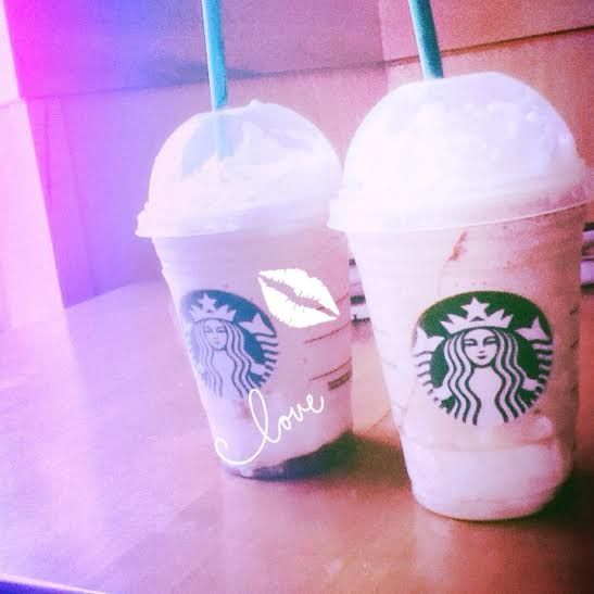 I love starbucks!!!!!!!!!! grande iced white mocha and smore frap