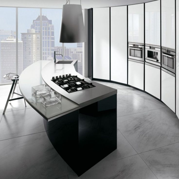 decoration inimitable curved kitchen island with seating and breakfast bar glass top also 5 burner gas cooktop and single handle kitchen faucet for modern minimalist kitchen design ~ kitchen island plans