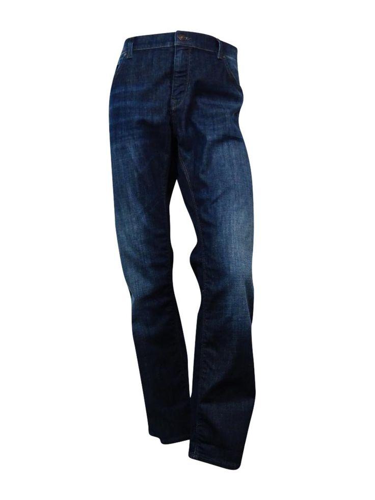 Boss Hugo Boss Men's Classic Fit Wash Jeans (Navy Blue, 40x32)