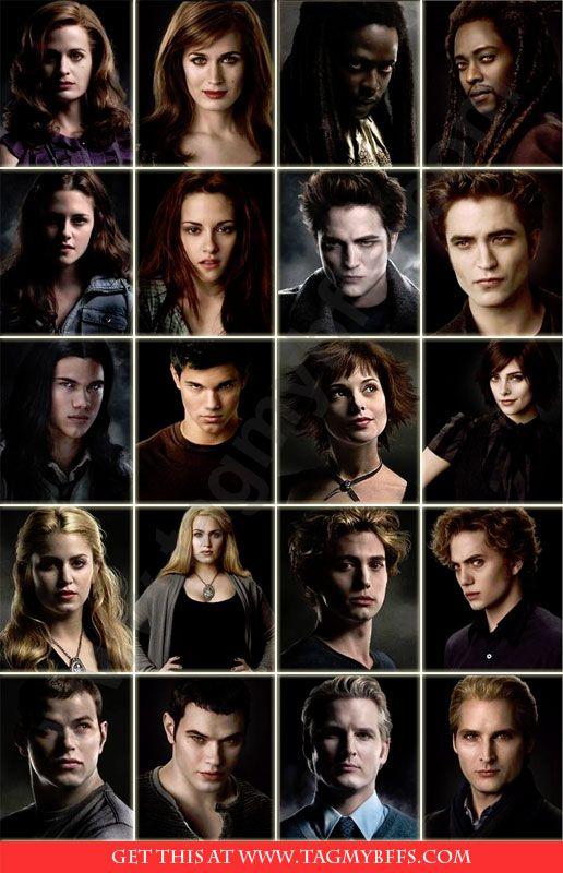 the twilight saga characters full names