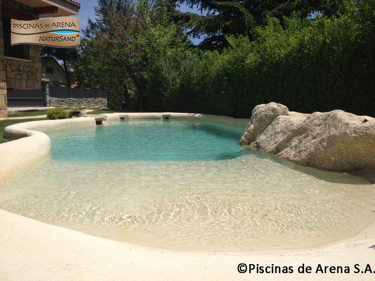 Las piscinas de arena ofrecen la posibilidad de construir paredes rectas o entradas en rampa - Piscinas de arena natursand ...