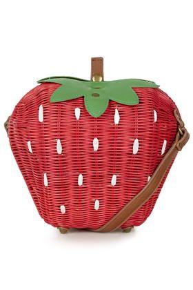 Strawberry Straw Bag
