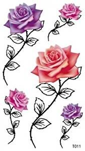Amazon.com : long lasting temporary tattoo rose temporary tattoos for ...