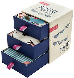 "Joules Underwear funny play on words ""quality drawers"" #packaging PD"