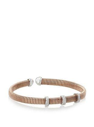 70% OFF Argento Vivo Rose 3 CZ Bar Cuff Bracelet