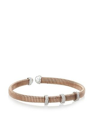 70% OFF Argento Vivo Rose 3 CZ Bar Cuff Bracelet