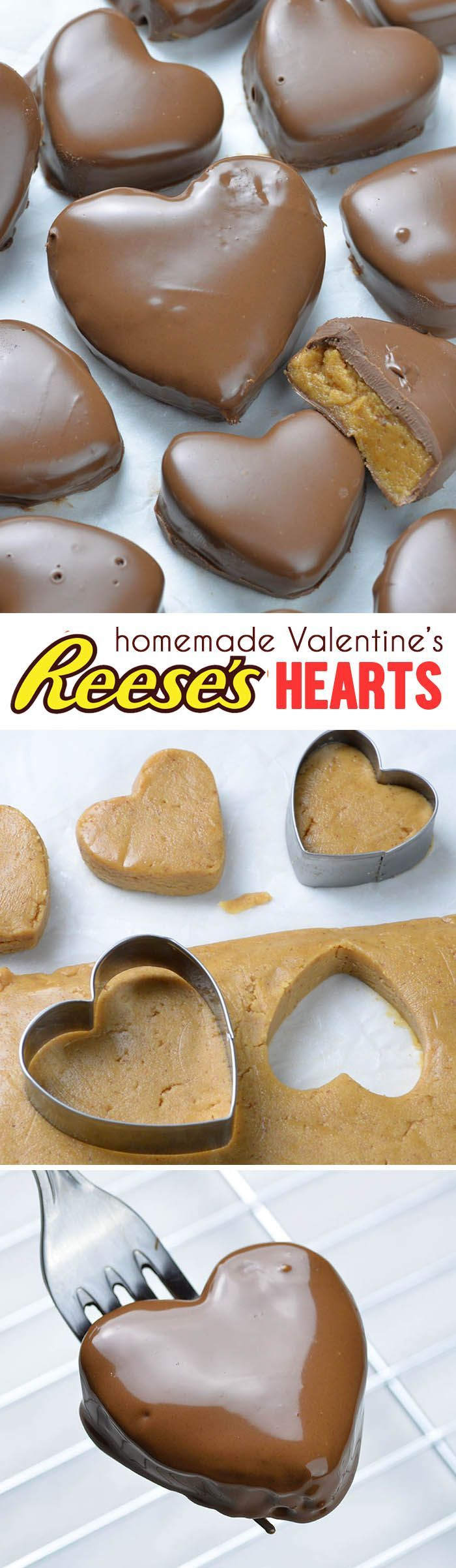92cea75510b9a2cac03dbc7f5860a7c8 - This Reese's Peanut Butter Valentine's Heart recipe is super simple and easy...