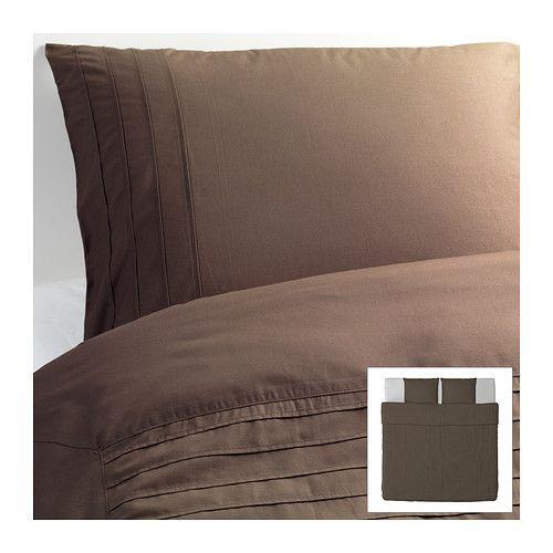 IKEA - ALVINE STRÅ, Dekbedovertrek met 2 slopen, 240x220/50x60 cm, , Het gekamde katoen maakt het beddengoed extra zacht en glad, en dat voelt lekker aan tegen de huid.</t><t>Het dichtgeweven beddengoed van fijn garen biedt extra zachte en duurzame kwaliteit.</t><t>De genaaide plooien aan de bovenkant zorgen voor een zachte en gevarieerde structuur.</t><t>Door de blinde drukknopen blijft het dekbed op zijn plaats.