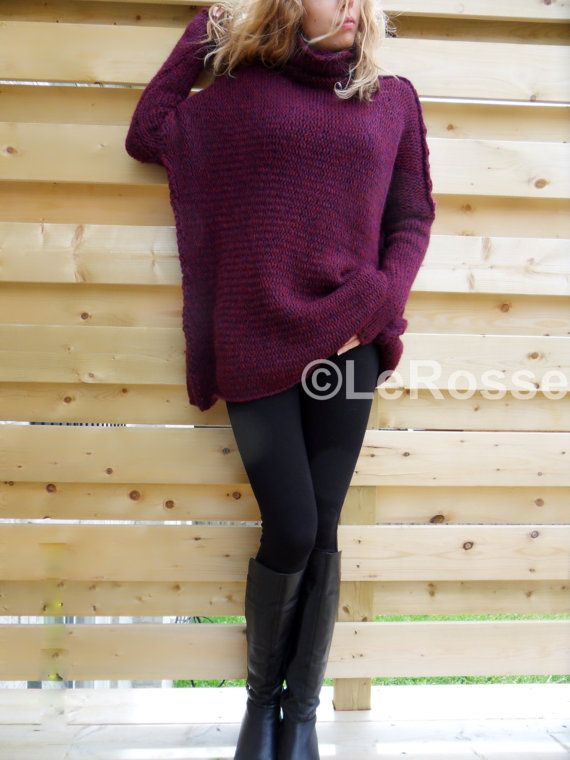 Slouchy/Oversised / Loose knit sweater. Alpaca womens by LeRosse