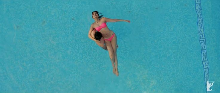 Sonam Kapoor takes a dip in the pool with Ayushmann Khurrana by her side in her upcoming film 'Bewakoofiyaan'. Psst, notice the sexy tattoo on her hip. #Style #Bollywood #Fashion #Beauty #Sexy