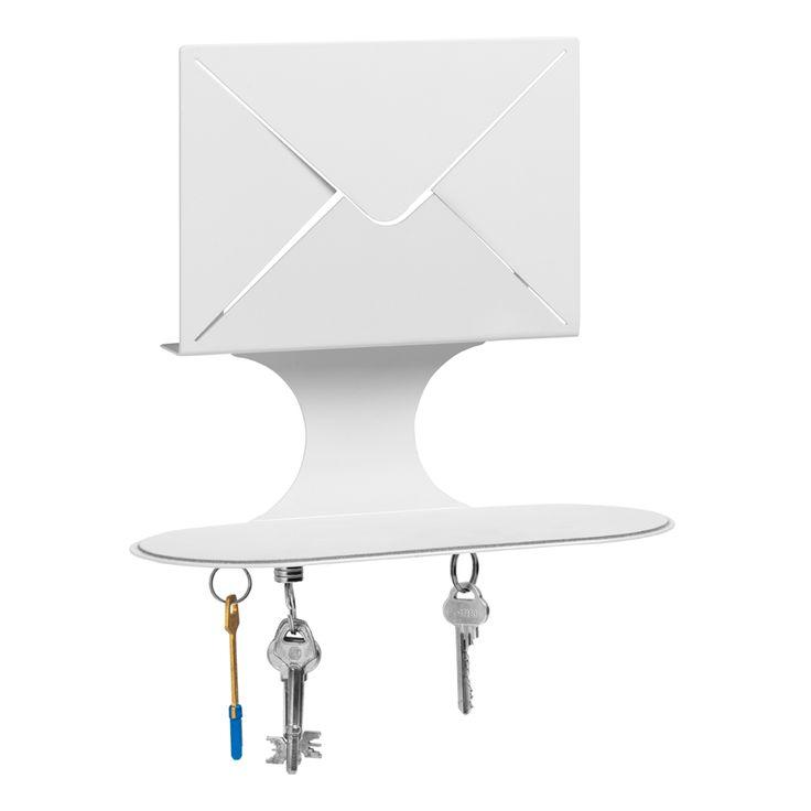 Letter nøglehylde, hvid i gruppen Indretningsdetaljer / Opbevaring / Knager & Kroge hos ROOM21.dk (104742)