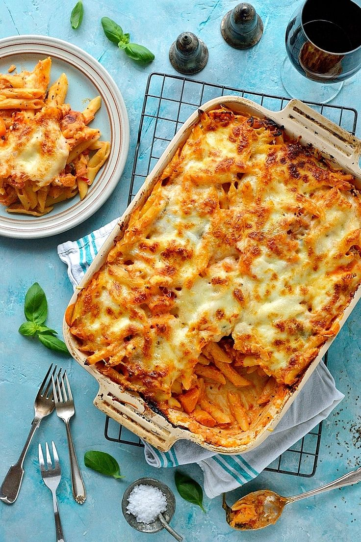 Butternut Squash And Ricotta Pasta Bake