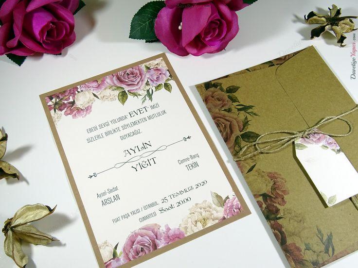 Erdem Kristal 70113 davetiye düğün wedding invitation