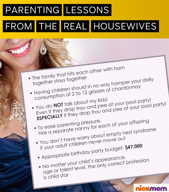 Who knew that the Real Housewives could teach us oh so many parenting lessons?Parenthood Lolz, The Real Housewives, Parents Lessons, Puree Awesome, Funny Stuff, Comenten Mucho, Who Knew