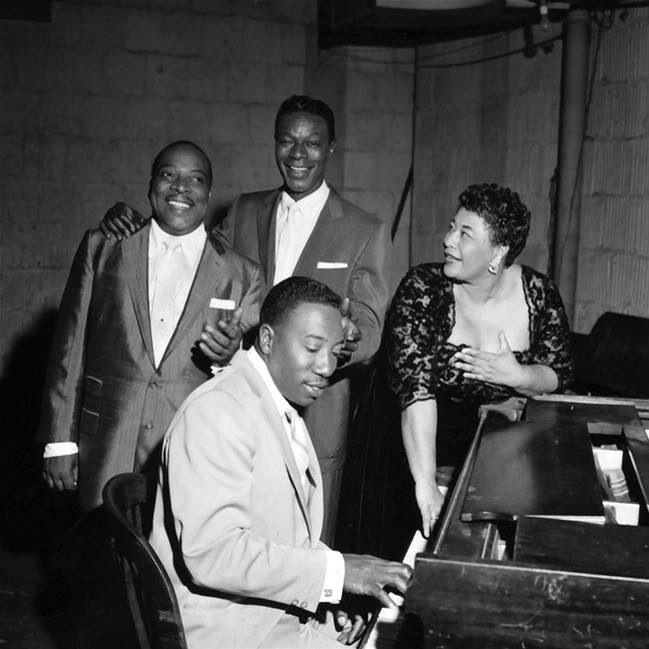Count Basie, Nat King Cole, Ella Fitzgerald, Joe Williams