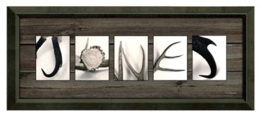 ''Antler Letter'' Personalized Framed Artwork Bass Pro Shops® Exclusive | Bass Pro Shops - registry gift? $150.00