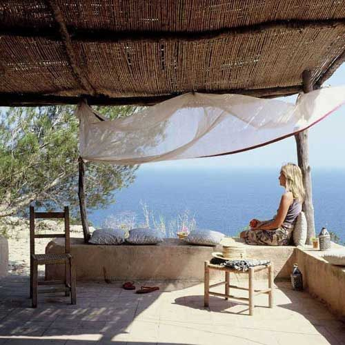 Seaview from a house in formentera   Photo by the style files