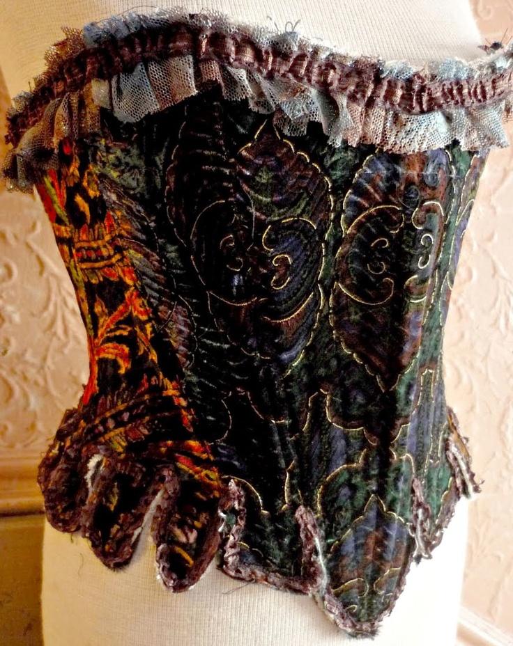 18th century styled velvet bodice