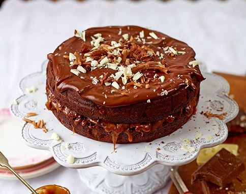 Jamie Oliver Chocolate and Salted Caramel Cake http://www.jamieoliver.com/magazine/recipes-view.php?title=chocolate-aamp-salted-caramel-cake